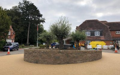 Resin Bound Roundabout Project Oxshott, Surrey